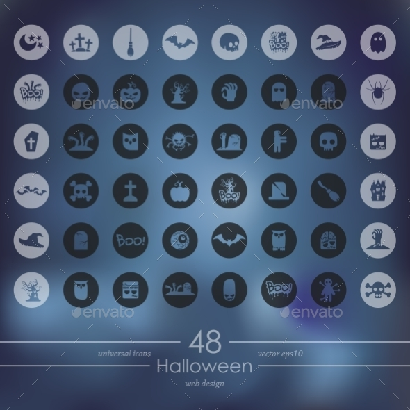 GraphicRiver Set of Halloween Icons 10531231