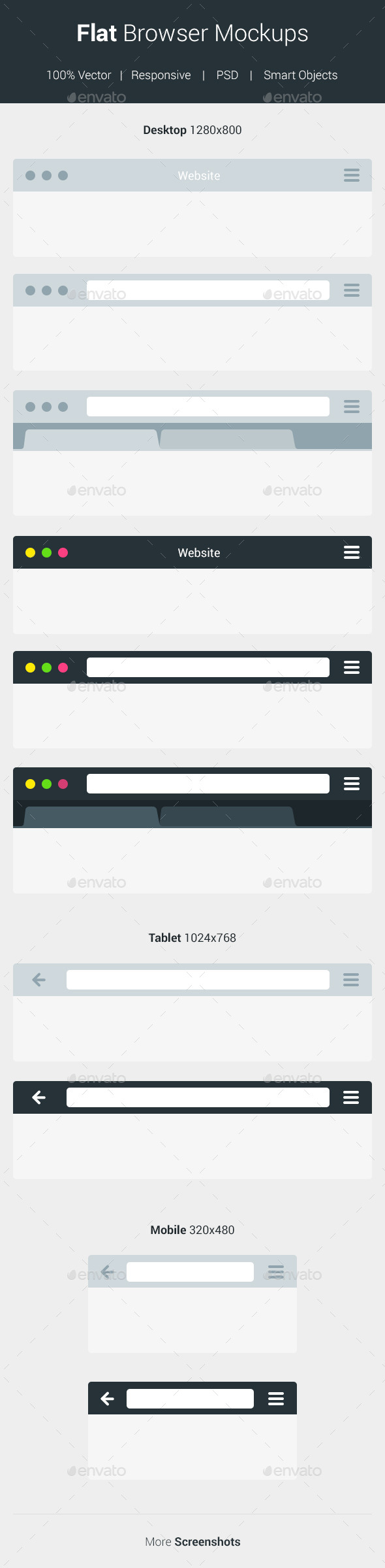 GraphicRiver Flat Browser Mockups 10531273