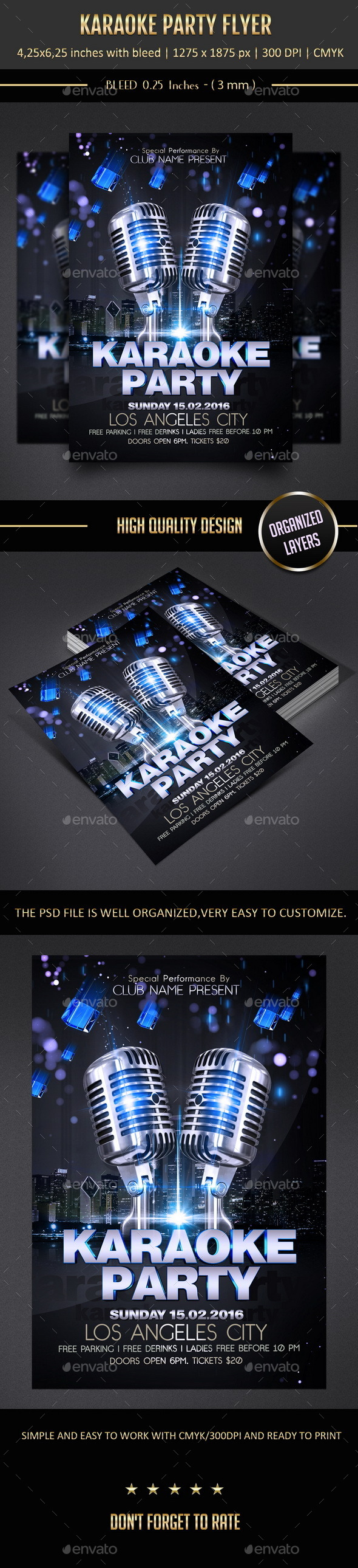 GraphicRiver Karaoke Party Flyer 10531294