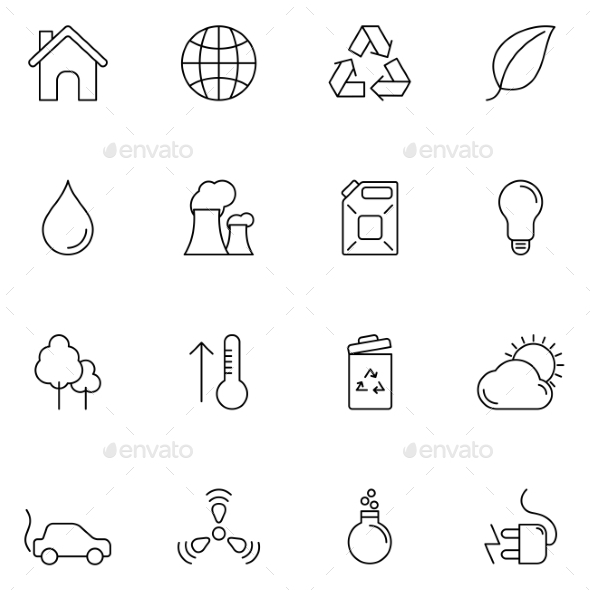 GraphicRiver Ecology and Environment Icons 10531667
