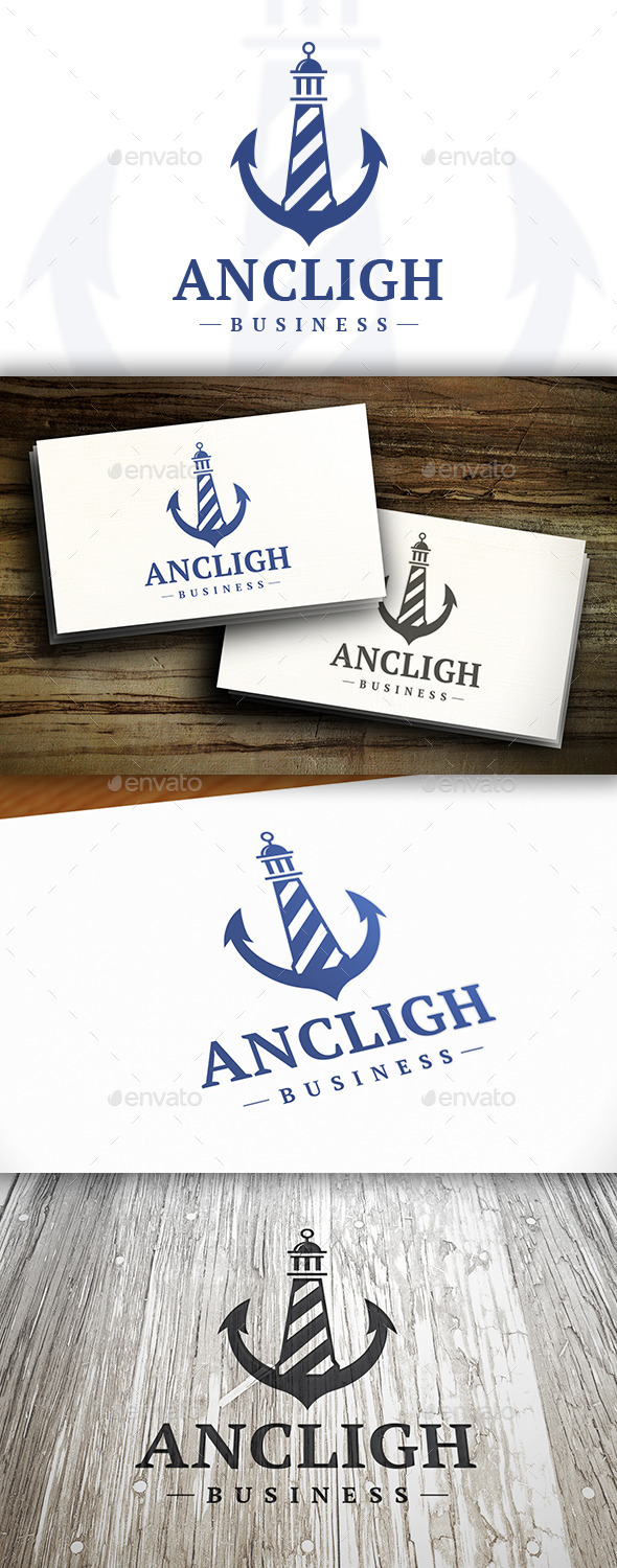 GraphicRiver Anchor Lighthouse Logo 10531888