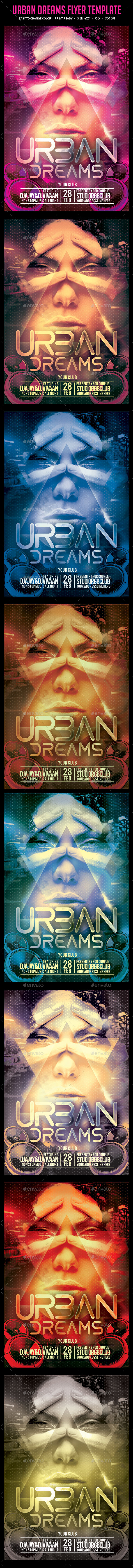 GraphicRiver Urban Dreams Flyer Template 10531936