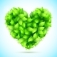 Green Leaves Heart - GraphicRiver Item for Sale
