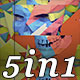 Polygon Skull - VJ Loop Pack (5in1) - VideoHive Item for Sale