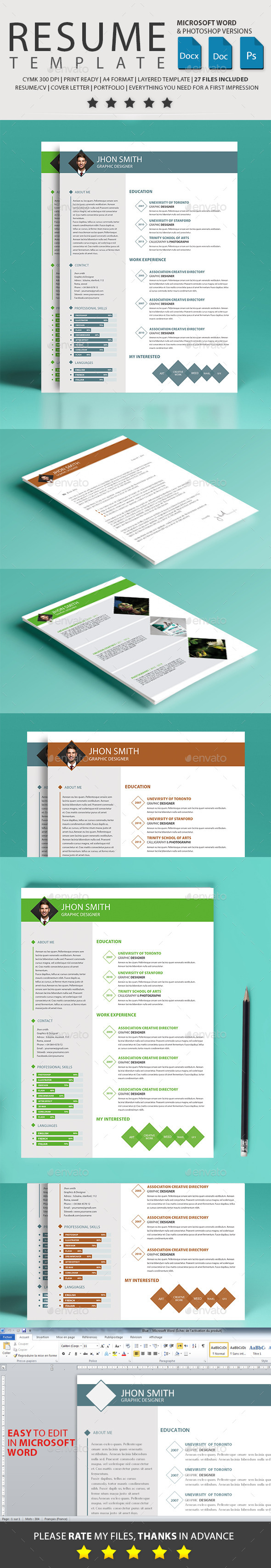 GraphicRiver Resume 10532423