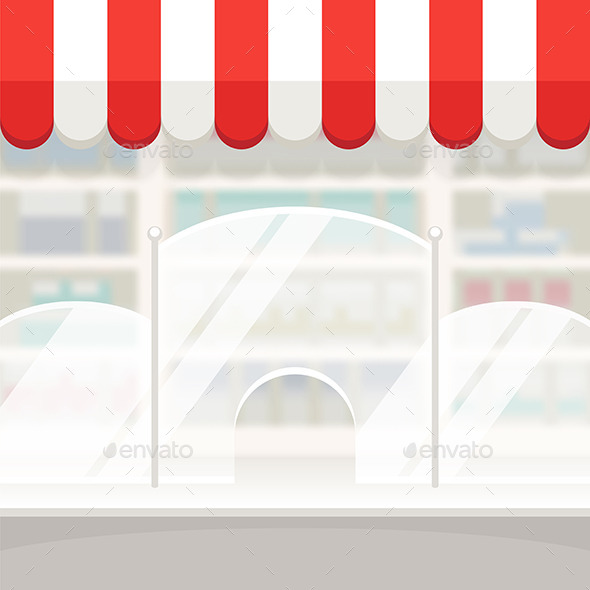 GraphicRiver Facade of a Shop Store or Pharmacy Background 10509817