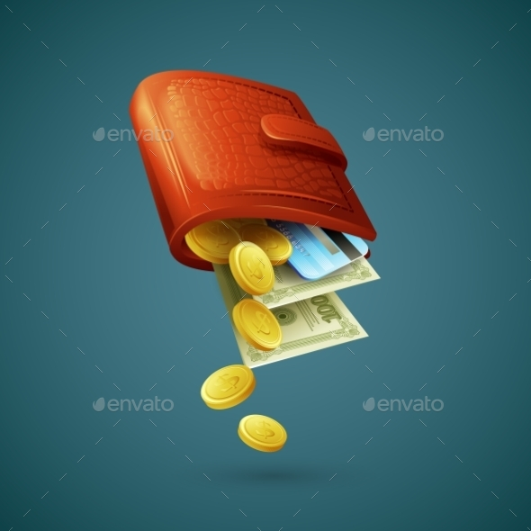 GraphicRiver Purse with Money 10533067