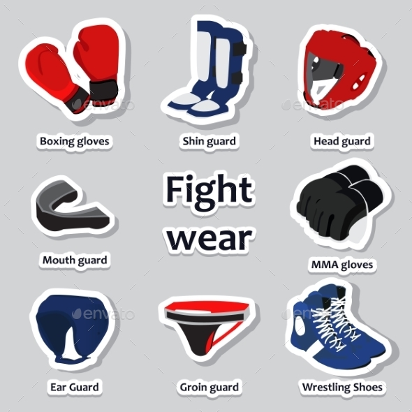 GraphicRiver Set of Sport Equipment for Martial Arts 10533383