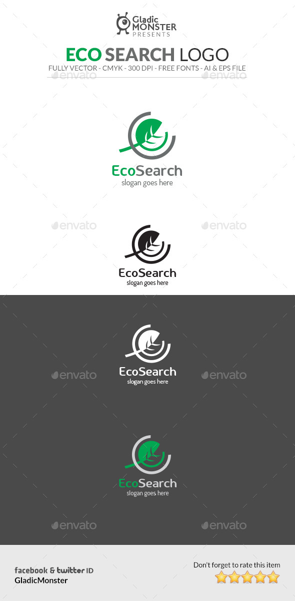 GraphicRiver Eco Search Logo 10533929