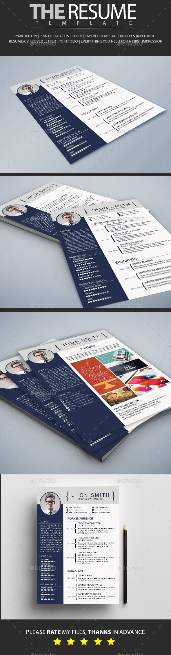 GraphicRiver Resume Simple 10534028