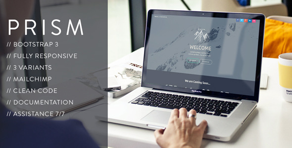 ThemeForest PRISM Creative Coming Soon Template 10534051