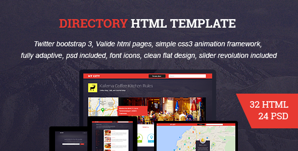 ThemeForest HTML Directory Geolocation Social Network 10438309