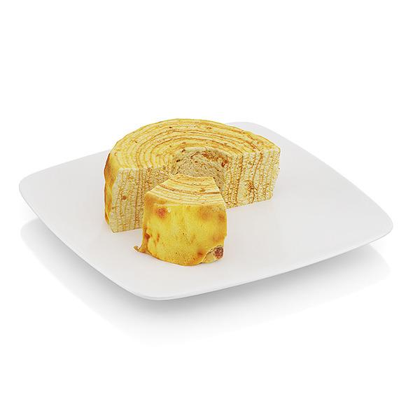 3DOcean Half-eaten tree cake 10534676
