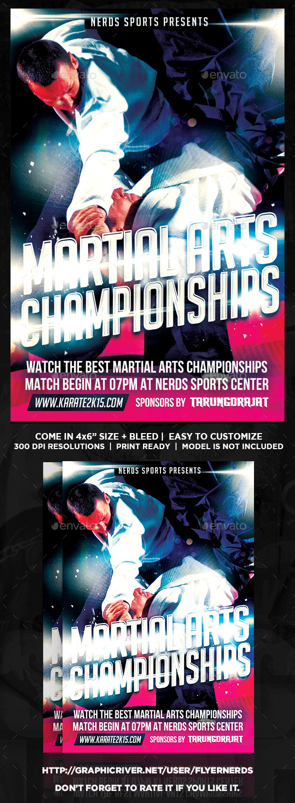 GraphicRiver Martial Arts 2K15 Championships Sports Flyer 10534694