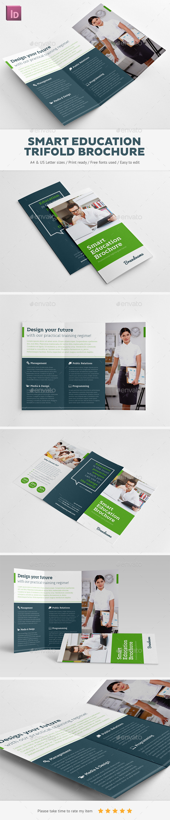 GraphicRiver Smart Education Trifold Brochure 10534696