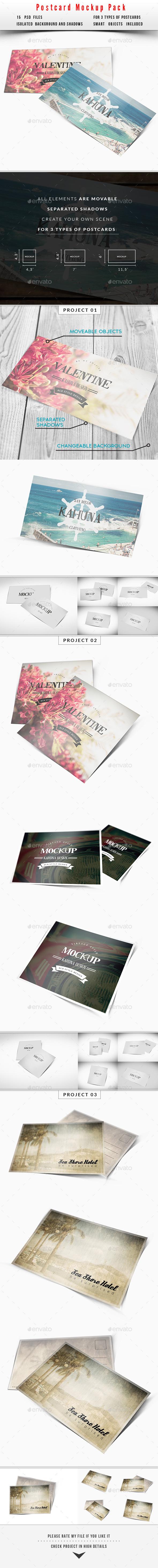 GraphicRiver Postcard Invitation Mockup Pack 10534707