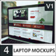 4 Laptop Screen Mockups v2 - GraphicRiver Item for Sale