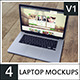 4 Laptop Screen Mockups v1 - GraphicRiver Item for Sale
