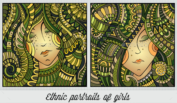 GraphicRiver 2 Ethnic Girl Portraits 10534822