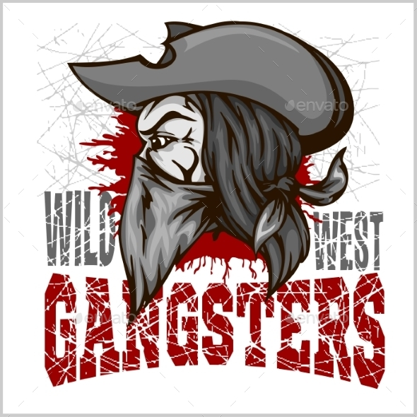 GraphicRiver Gangster in Retro Scratch Background 10534974