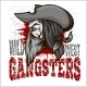 Gangster in Retro Scratch Background - GraphicRiver Item for Sale