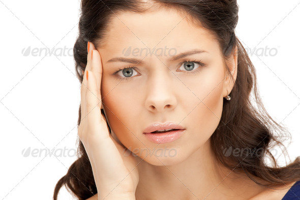 unhappy woman - Stock Photo - Images