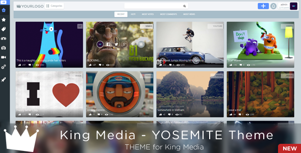 KingMEDIA - YOSEMITE Theme