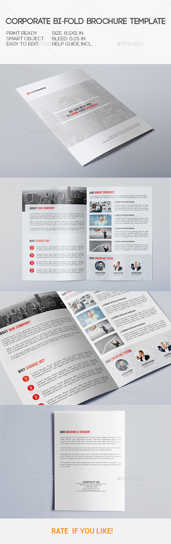 GraphicRiver Corporate Bi-Fold Brochure 10535369