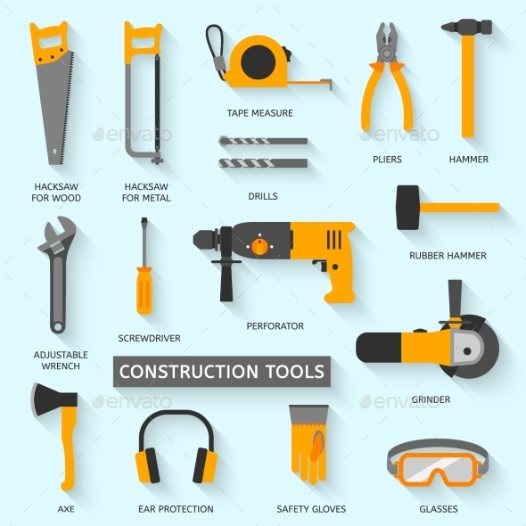 GraphicRiver Construction Tools Icons Set 10535465