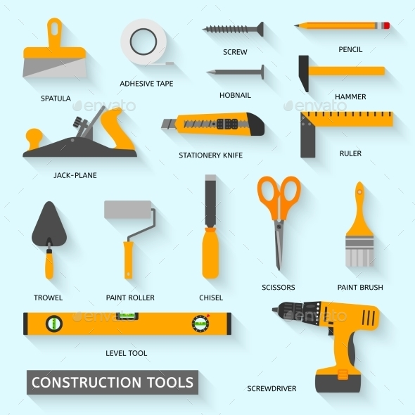 GraphicRiver Construction Tools Icons Set 10535467