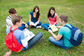 College students studying and discuss together in campus - PhotoDune Item for Sale