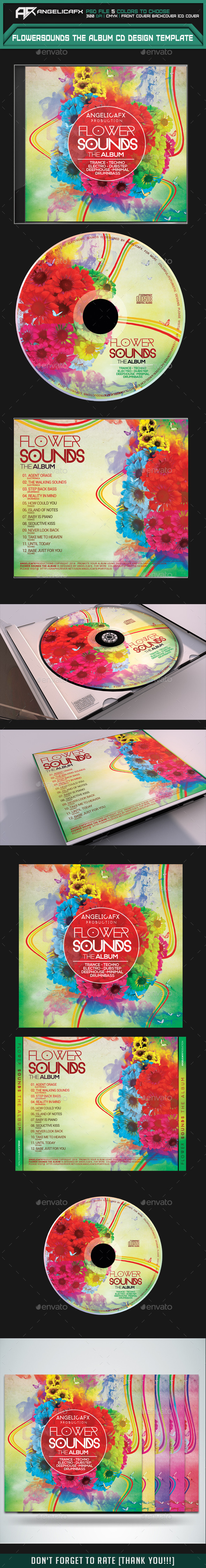 GraphicRiver Flower Sounds The Album CD Design Template 8967112