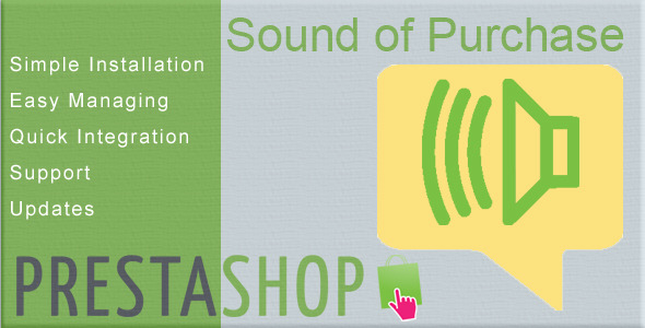 CodeCanyon Prestashop Module Sound of New Purchase 10535605