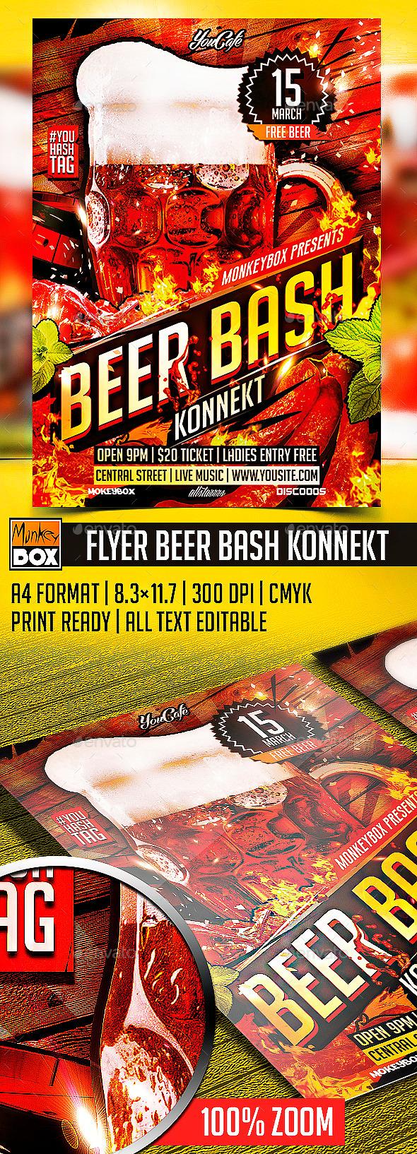 GraphicRiver Flyer Beer Bash Konnekt 10535863