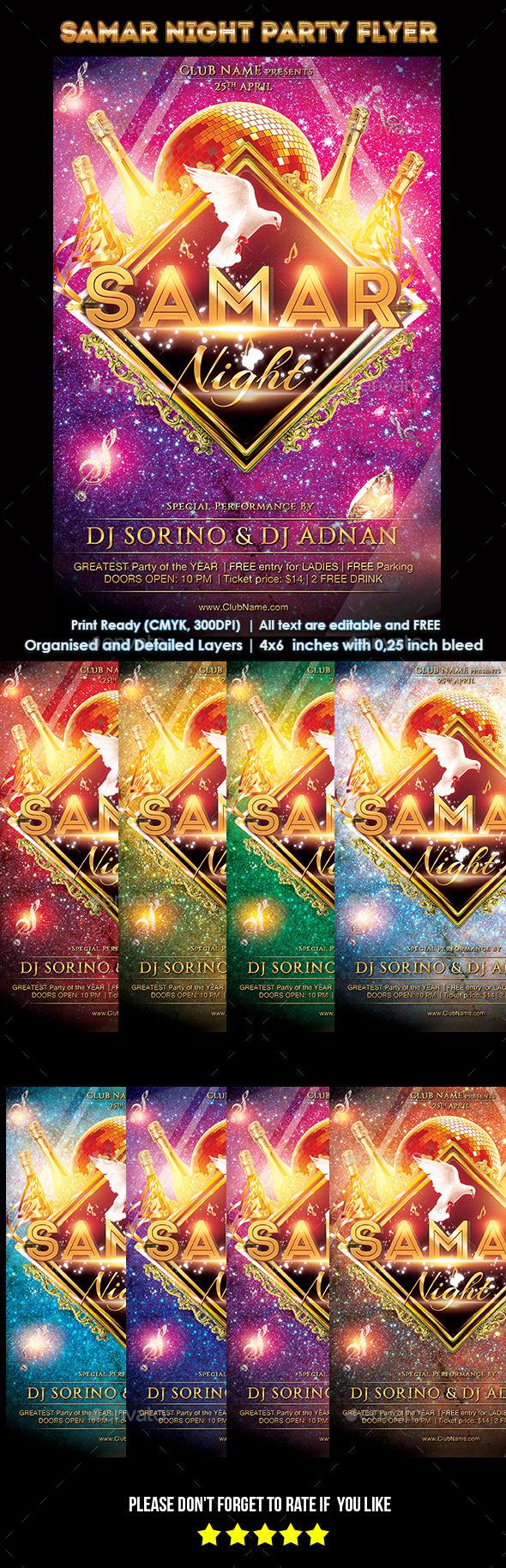 GraphicRiver Samar Night Party Flyer 10535931
