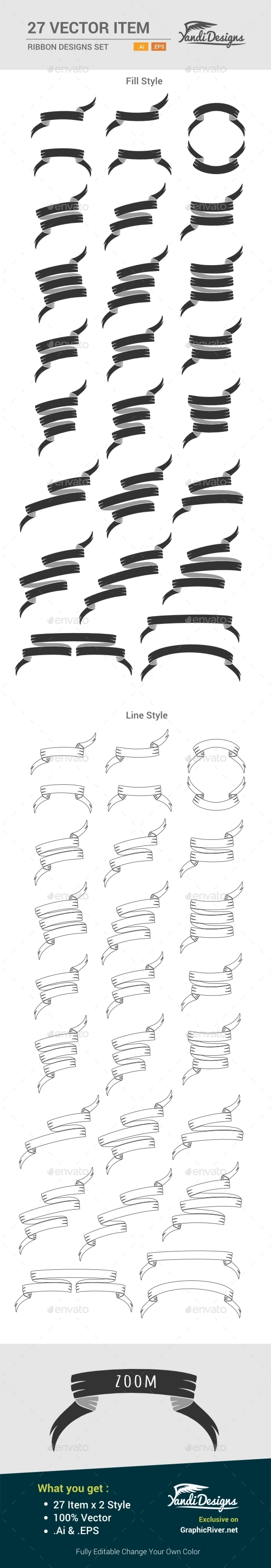 GraphicRiver Ribbon Design Set 10535935