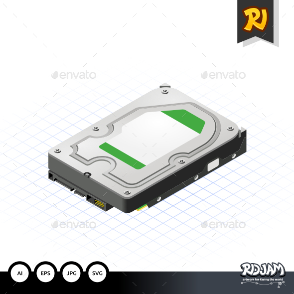 GraphicRiver Isometric Hard Disk 10535984