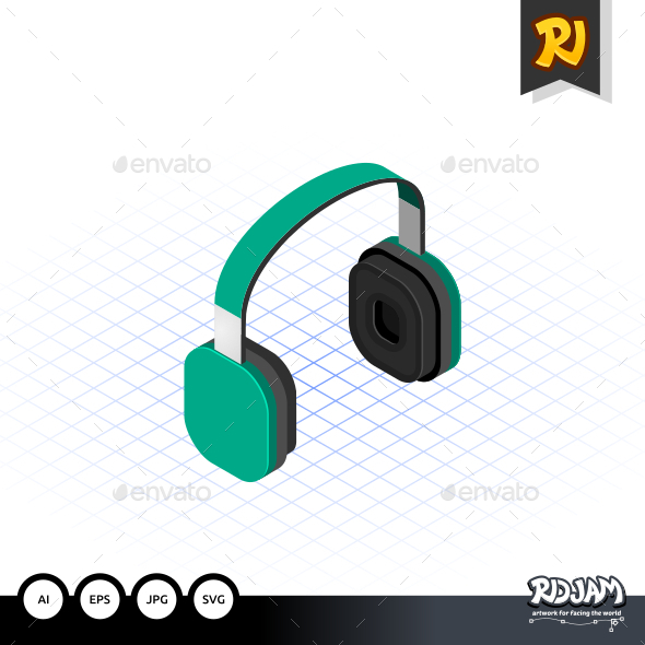 GraphicRiver Isometric Headset 10535989
