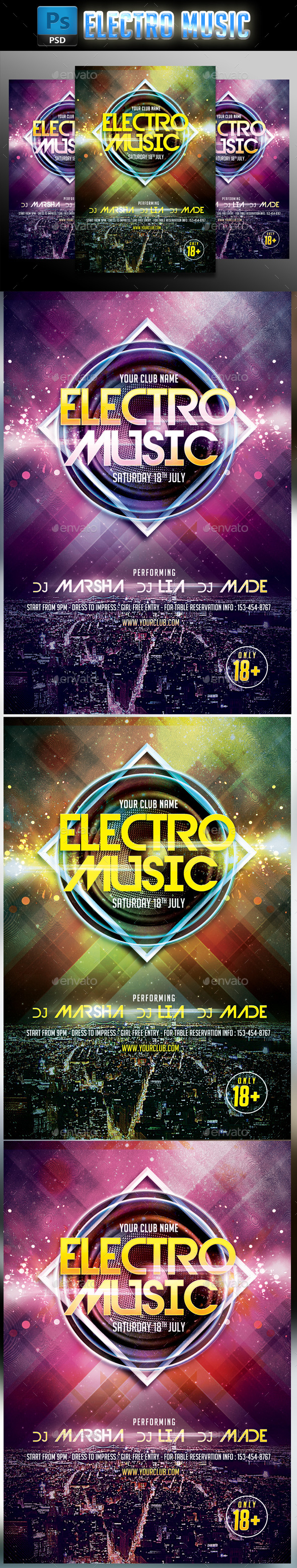 GraphicRiver Electro Music #2 10535992