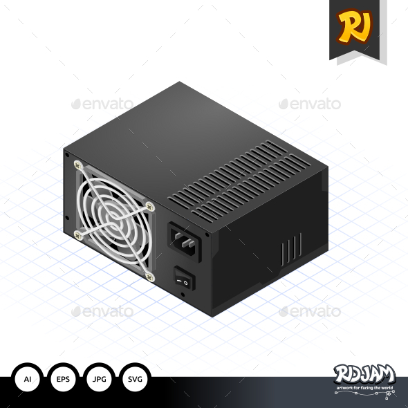 GraphicRiver Isometric Power Supply 10536005