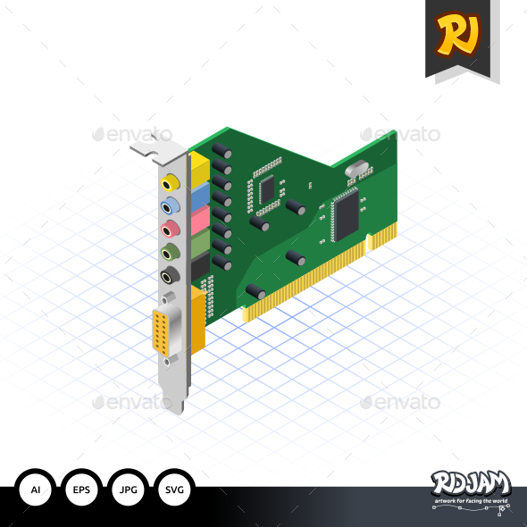 GraphicRiver Isometric Sound Card 10536171
