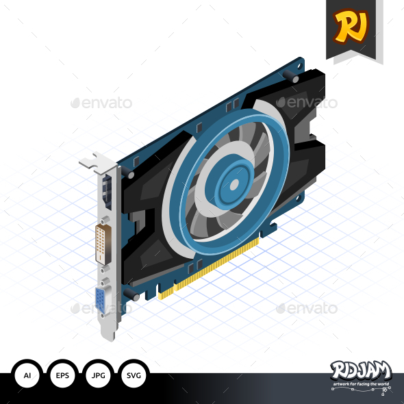 GraphicRiver Isometric Graphic Card 10536283
