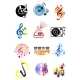 Colorful Musical Icons Set - GraphicRiver Item for Sale