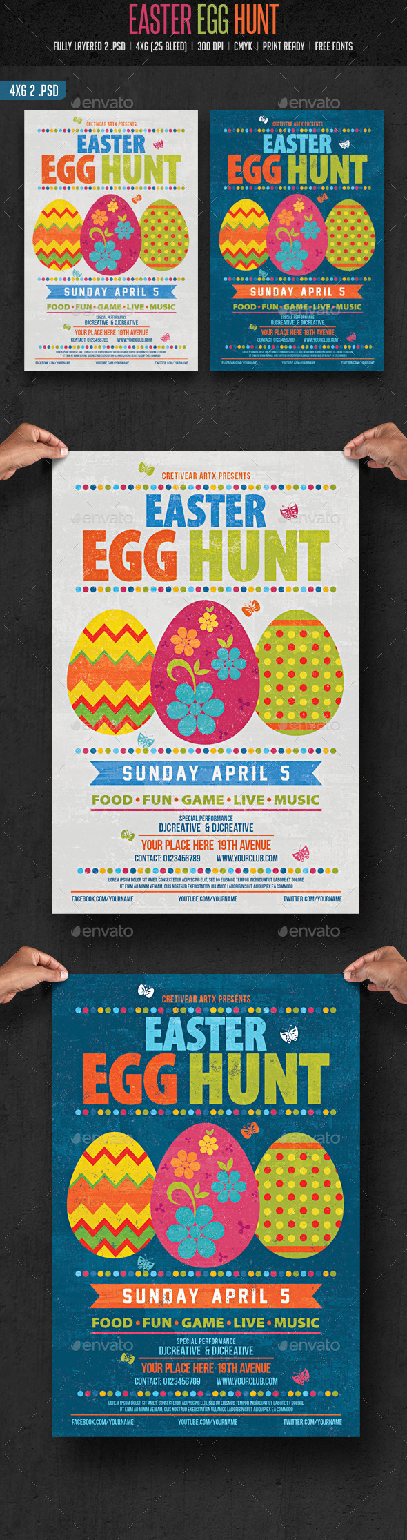 GraphicRiver Easter Egg Hunt Flyer 10536419