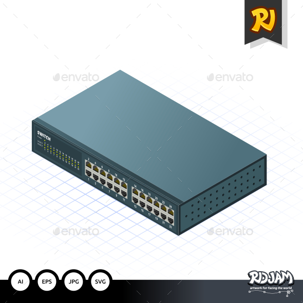 GraphicRiver Isometric Switch 10536426