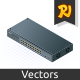Isometric Switch with Uplink Port - GraphicRiver Item for Sale