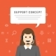 Business Woman Support Service Concept - GraphicRiver Item for Sale