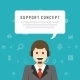 Business Man Support Service Concept - GraphicRiver Item for Sale