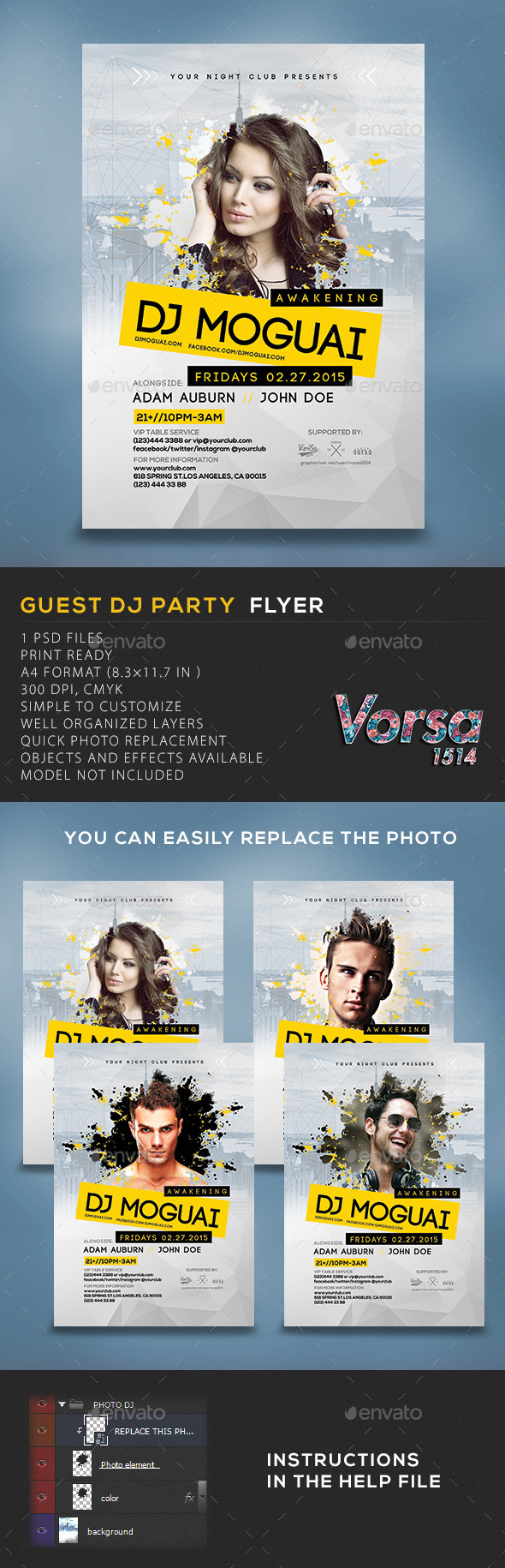 GraphicRiver Guest DJ Party Flyer Template 10536730