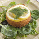 fish cake with lemon slice on green salad - PhotoDune Item for Sale